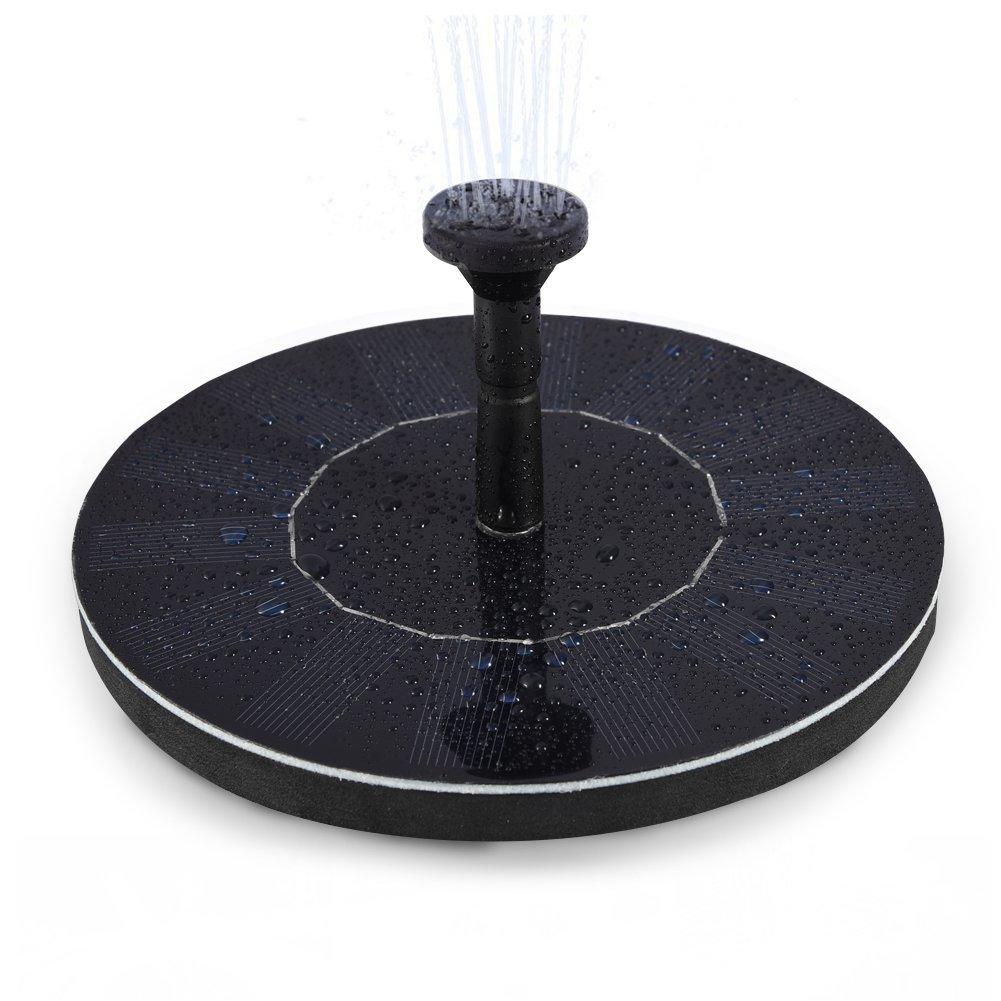 LEDGLE 1.4W Pompa Solare per Fontana, Giardino, Pompa ad Acqua per la Vostra Fontana, Portata Fino a 150L/h [Classe di efficienza energetica A+++]