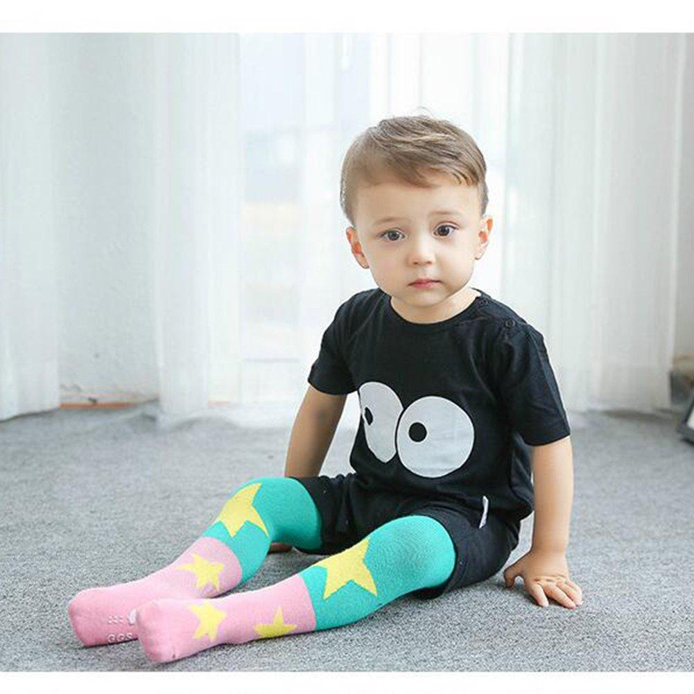 Goodkids Children Girls Spring Autumn Winter Elastic Cute Breathable Pantyhose Star//Heart Cotton Tights High Socks