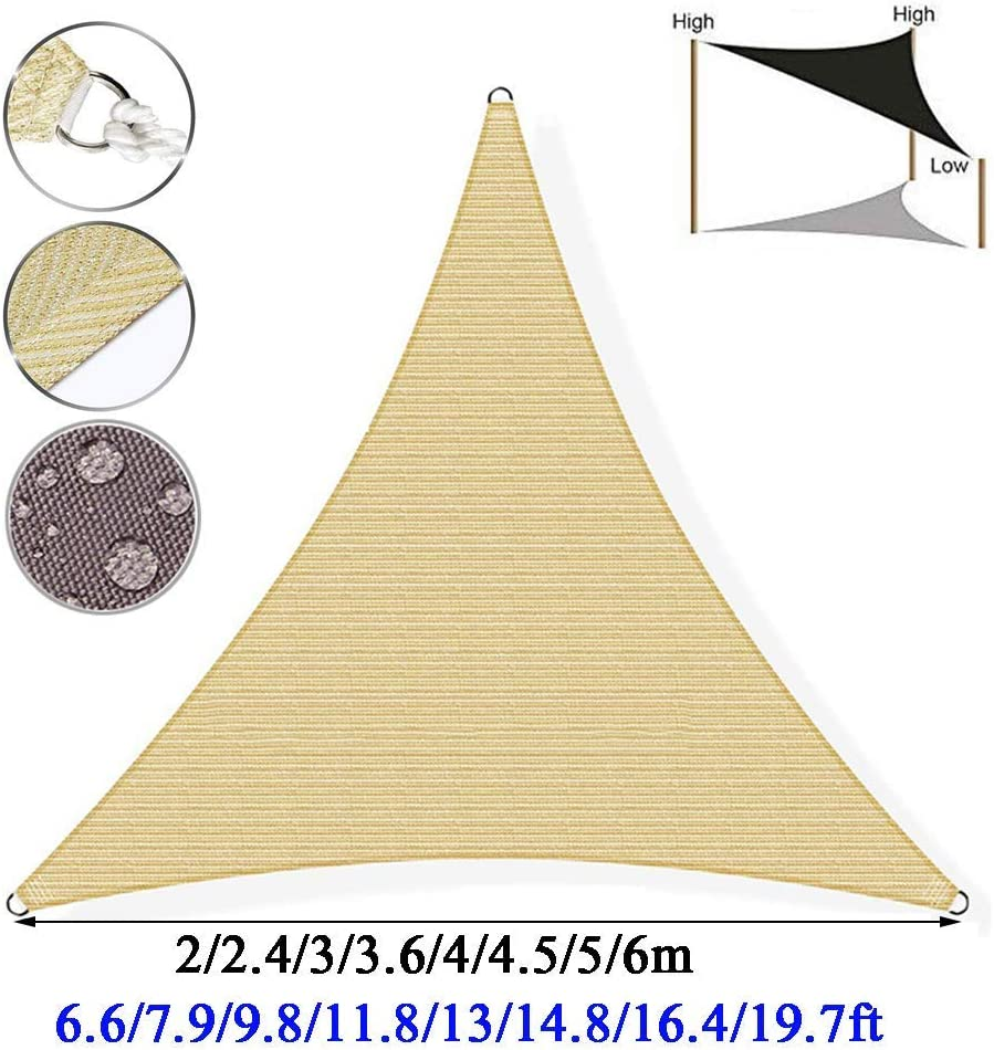 DBXD Vela de Sombra 101% protección UV Protector Solar Toldo ...