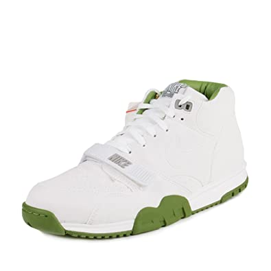 Mens Air Trainer 1 Mid Sp / Fragment White/chlorophyll Green Leather Size  8.5