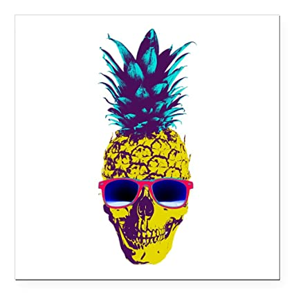 d031b7cac40 Amazon.com  CafePress - Pineapple Skull Square Car Magnet 3