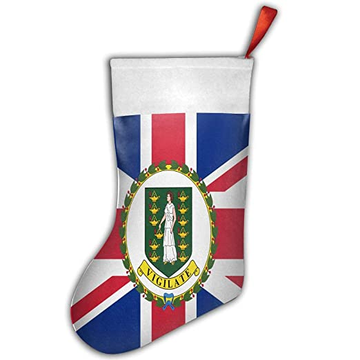 one suit christmas stocking flag of the british virgin islands xmas tree decorations santa socks snowman - British Christmas Tree Decorations