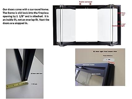 Amazoncom Temco Bi Fold Glass Fireplace Door Easy to Install