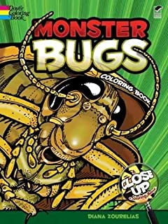 Monster Bugs A Close Up Coloring Book Dover Nature
