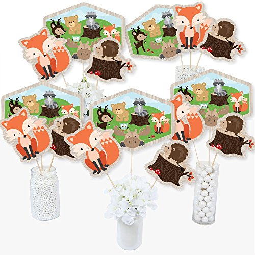 Woodland Creatures - Baby Shower or Birthday Party Centerpiece Sticks - Table Toppers - Set of 15]()