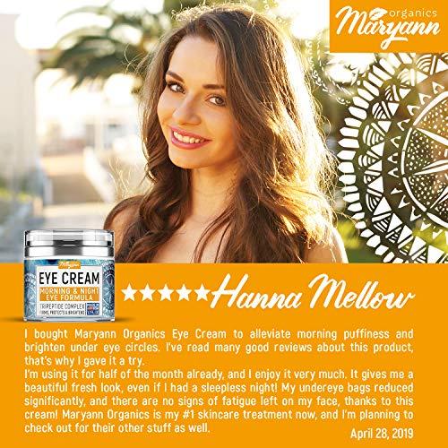 61jVWjdFqJL - MARYANN Organics Eye Cream - Natural Formula with Hyaluronic Acid, Vitamin E & Aloe Vera - Made in USA - Anti Aging Cream for Women - Reduce Dark Circles, Puffiness, Under Eye Bags, Wrinkles - 1,7 OZ