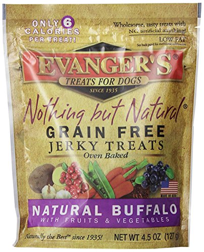 EVANGER'S 776301 Nothing But Natural Buffalo Dog Treats, 4.5-Ounce