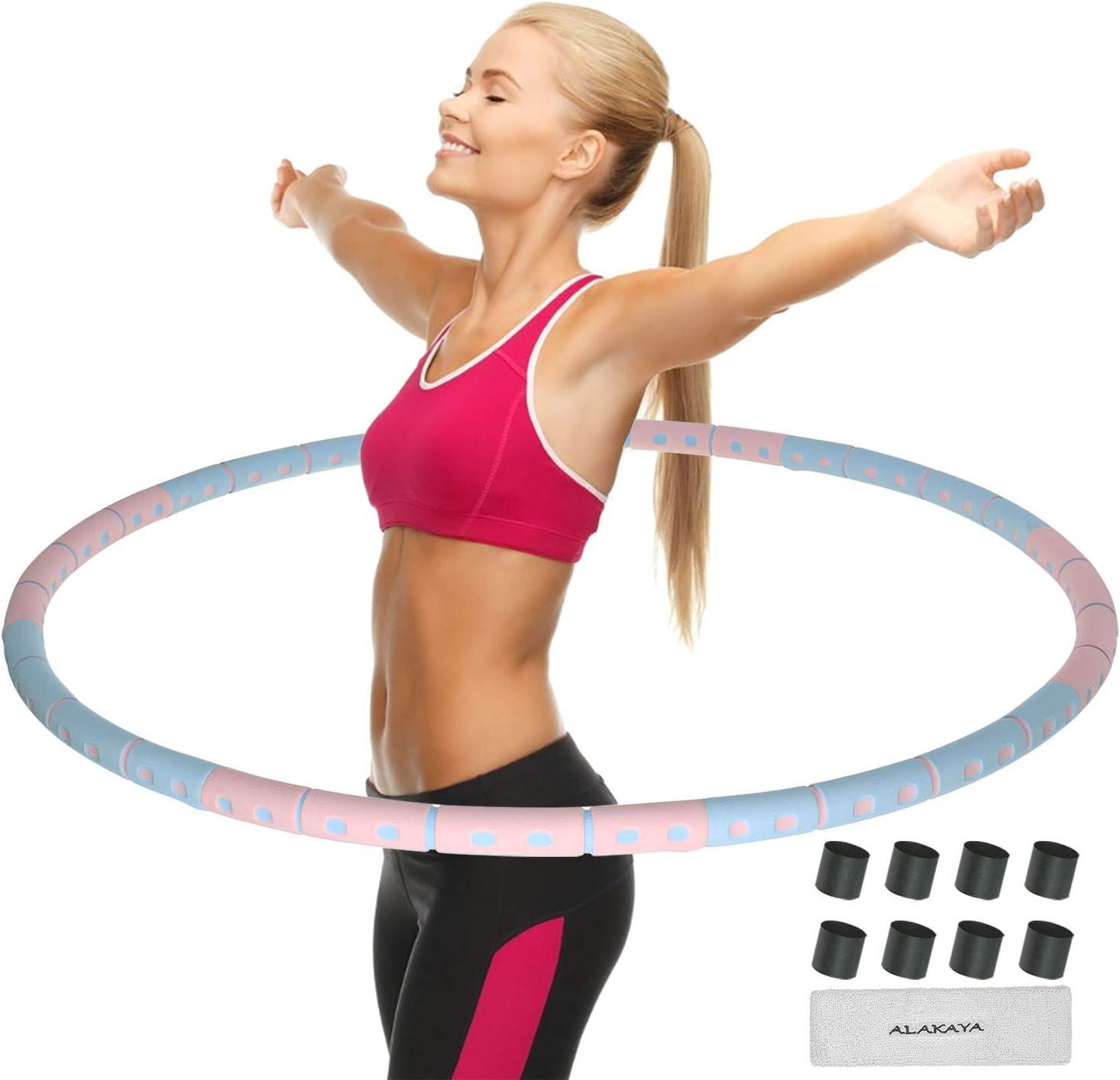 Fitness Gewichtsverlust Hula Hoops Reifen 24 artikulierte Fitness Reifen k/önnen angepasst werden Formung Taille Gewichtsverlust 2-in-1 Fitness und Massage Hula Hoops f/ür erwachsene Kinder