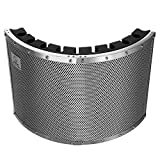 """Neewer® Portable Microphone Acoustic Isolation Shield with Lightweight Metal Alloy, Acoustic Foams, Mounting Brackets and Screws for Mic Stand with 5/8"""" Thread"""