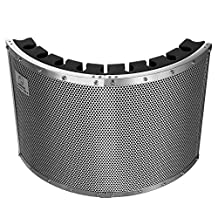 "Neewer® Portable Microphone Acoustic Isolation Shield with Lightweight Metal Alloy, Acoustic Foams, Mounting Brackets and Screws for Mic Stand with 5/8"" Thread"