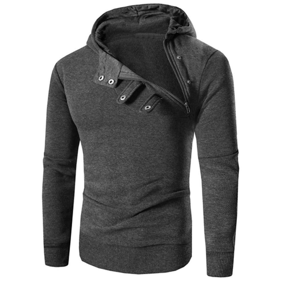 A-LING Mens Sweater Warm Hoodie Man Hooded Sweatshirt Jacket with Zipper