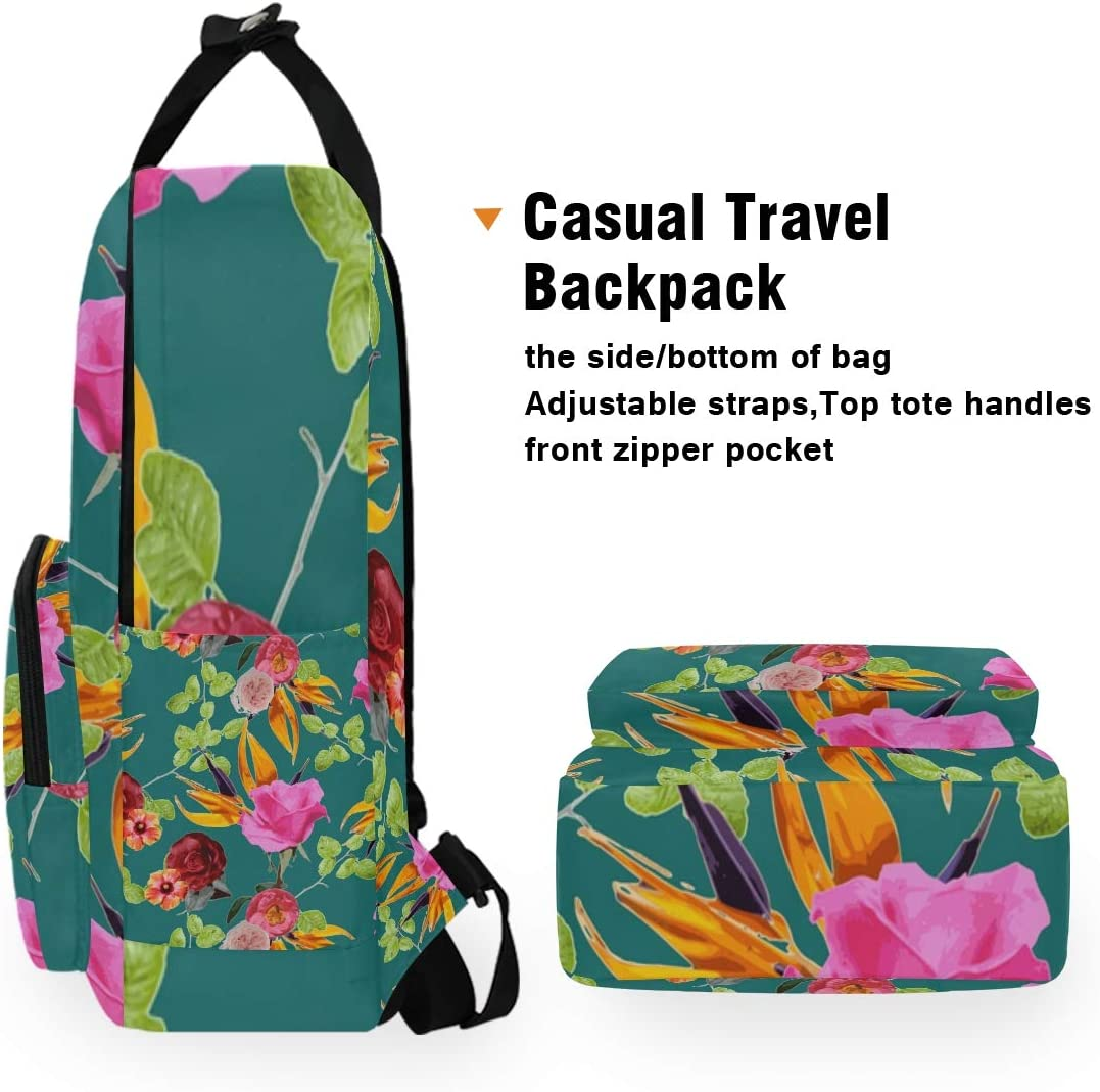 10.5x5.5x15 Backpacks College School Book Bag Travel Hiking Camping Daypack for boy for Girl Chaman Garden Holds 14-inch Laptop