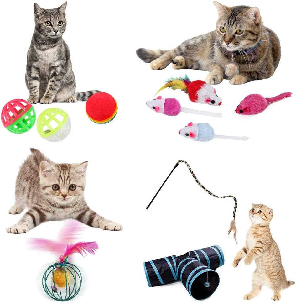 tingtin 27 Piezas Túnel para Gatos, Juguetes para Gatos Interactivos, Mascota Gato Captura Juguetes De Entrenamiento Fine: Amazon.es: Productos para mascotas