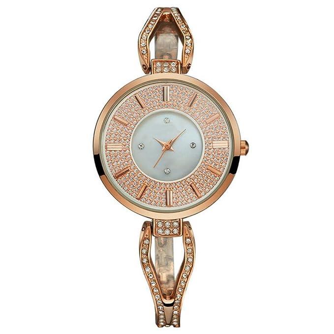 YXMAHW Trébol De Modelos Femeninos Tienda De Ropa Shi Ying Relojes Del Reloj Puntero Reloj Redondo De Cristal: Amazon.es: Ropa y accesorios
