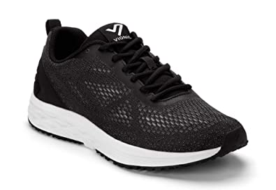 e59ed9c17b46 Vionic Men s Fulton Tate Sneakers - Walking Shoes with Concealed Orthotic  Arch Support Black 7 M