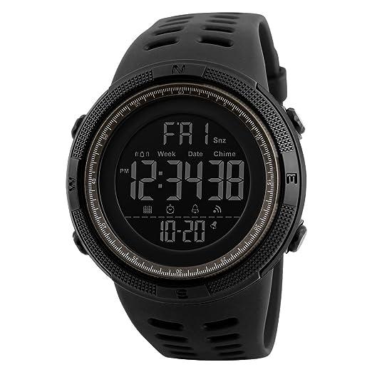 Skmei 1251 Reloj Digital para Hombres Grandes Face Sport Reloj de Pulsera: Amazon.es: Relojes