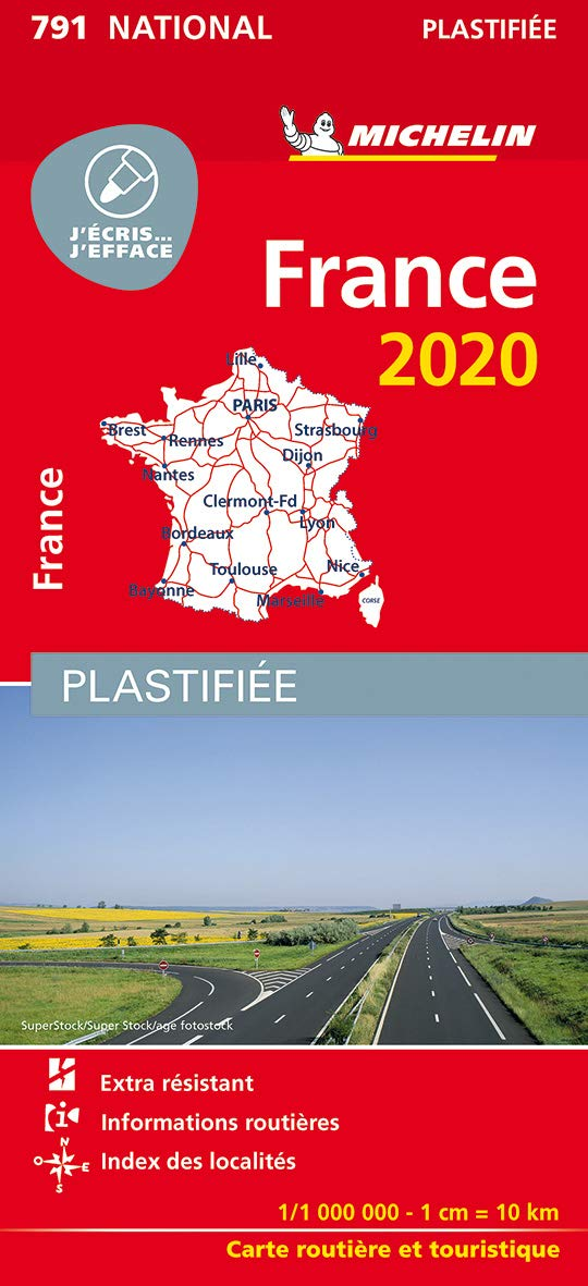 carte routiere france 2020 Amazon.fr   Carte France Plastifiée MICHELIN 2020   Michelin   Livres