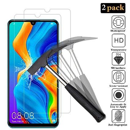 ANEWSIR [2 Pack Protector de Pantalla para Huawei P30 Lite, Huawei P30 Lite Cristal Templado Vidrio Templado [9H Dureza] [Alta Definicion] Protector ...