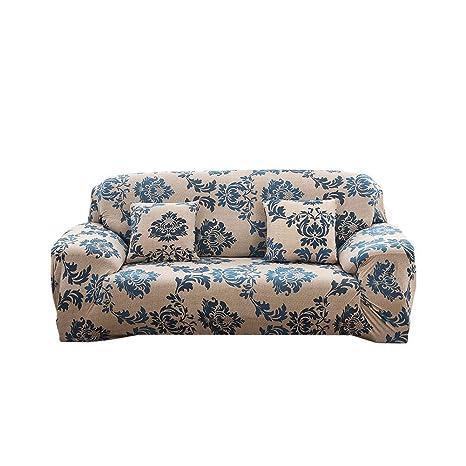 iShinê Universal Funda de Sofá Elástica, Estampado Cubre Sofas Protector de Sofá