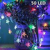 AMERTEER Twinkle Star 50 LED 5M Star String Lights Battery Operated, Fairy String Light for Home, Party, Christmas…