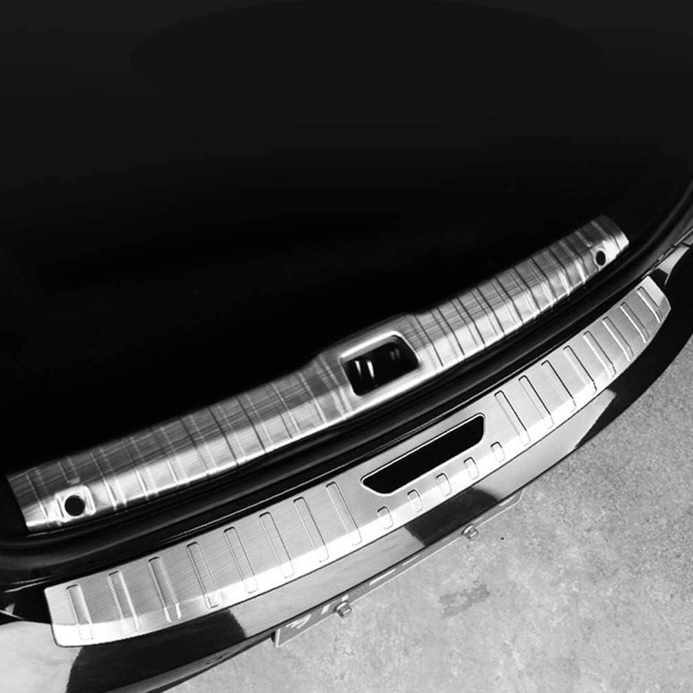Car Styling Zubeh/ör,Inner XBXDM Auto Edelstahl Hecksto/ßstange Schutzschwelle F/ür Volvo S90 2017 2018 2019 Rear Bumper Protector Einstiegsleisten Scuff Plate