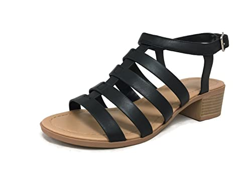 8dfd6053067b0 City Classified Women's Strappy Sandal Chunky Block Low Heel With Ankle  Strap