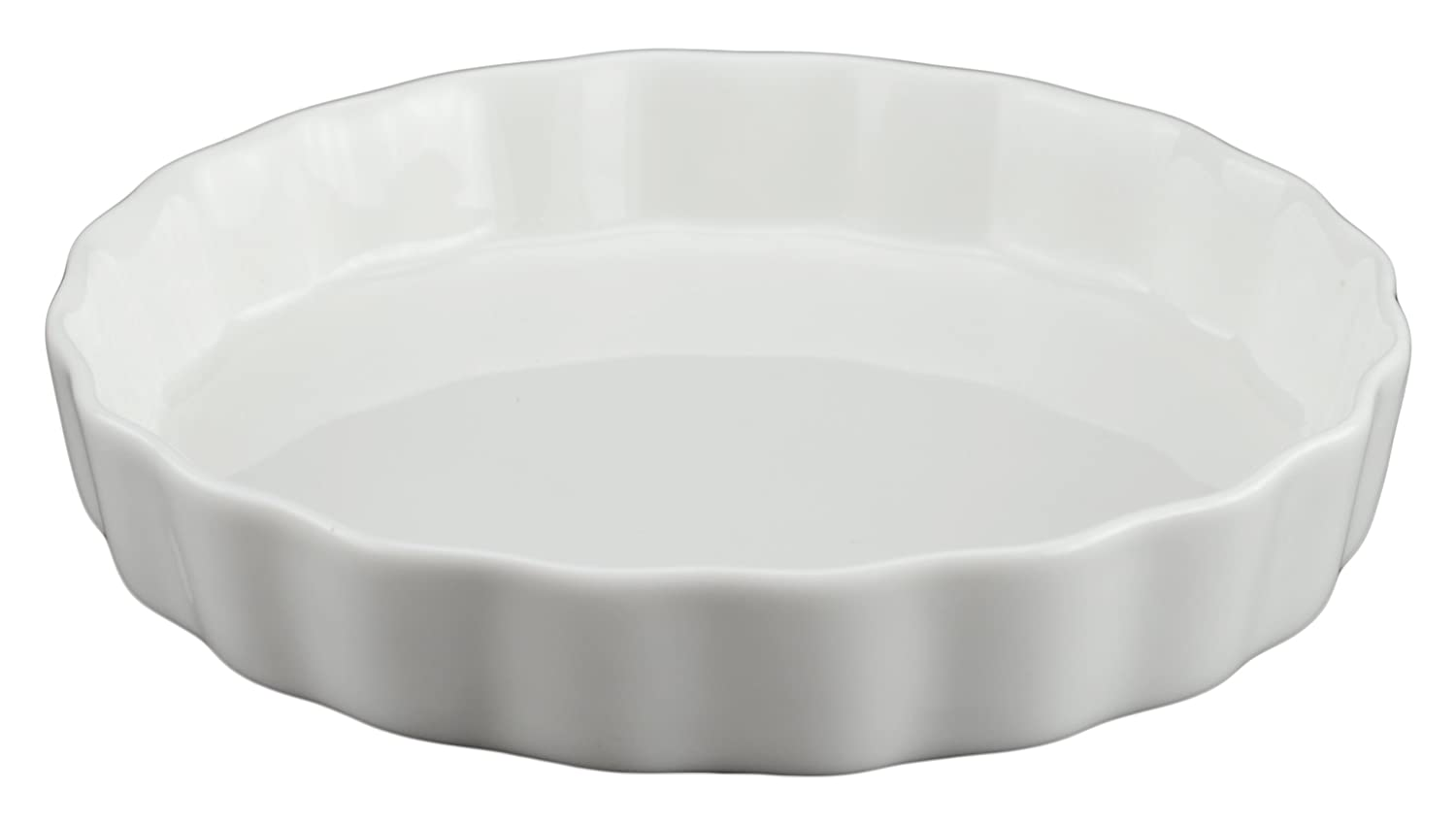 Tannex Set of 4 White Tie Quiche Dish, White 94112