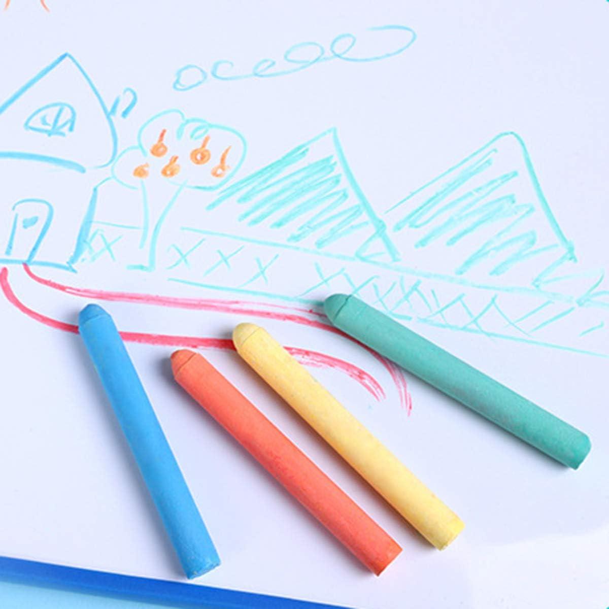 Assorted Color Large Hopscotch Chalk Giant STREET CHALKS Fun Art Game Borlai 20Pcs Chalk