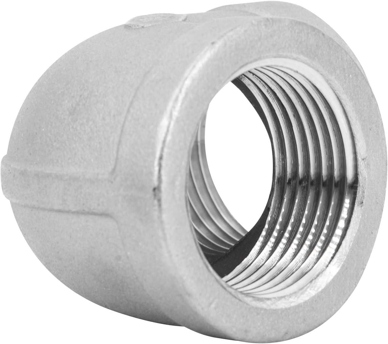 Connecteur acier inoxydable coud/é /à 90 degr/és pour tuyaux avec raccord viss/é m/âle x femelle
