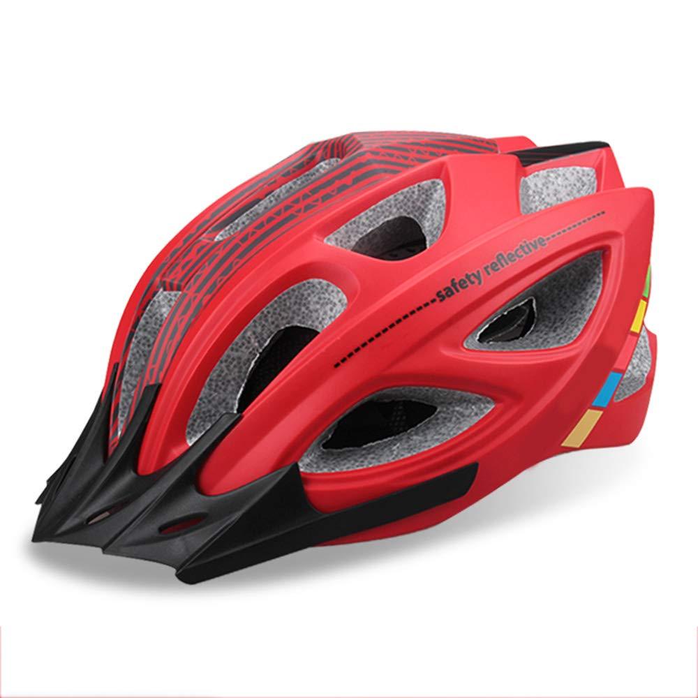 ヘルメット、自転車ヘルメット、高密度EPSキャップ材を使用、ヘルメットの耐衝撃性をワンピース設計で実現、体重わず290g、頭囲58-62Cmに適しています   B07J5CBD8W