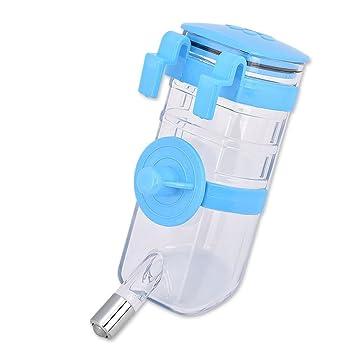 CHONGWFS Botella de Agua ZZY para Perros dispensador de Agua 375ml Botella de Agua Potable portátil