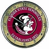 WinCraft NCAA Florida State Seminoles Chrome Clock