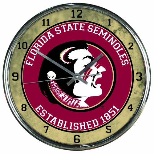 Florida State Seminoles Wall Clock (NCAA Florida State Seminoles Chrome Clock)