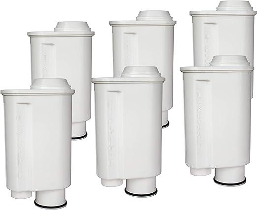 Juego de 6 filtros de agua para cafetera espresso (compatible con Philips Saeco Brita Intenza+ Plus CA6706/48 CA6702/00 CA6702/10 Moltio Incanto Exprelia Intelia Lavazza Gaggia A Modo Mio Rondo).: Amazon.es: Hogar