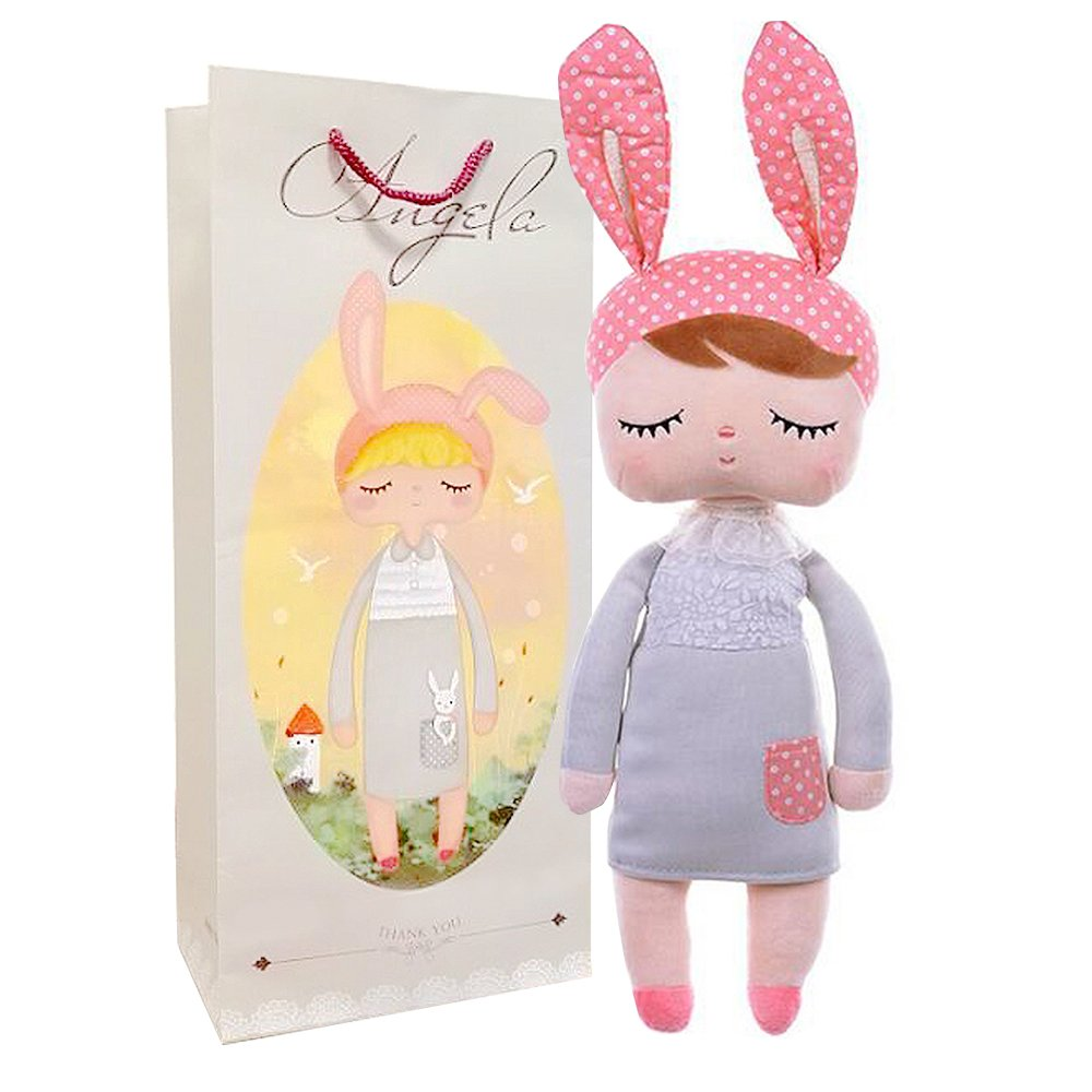 Amazon me too angela stuffed bunny baby plush rabbit doll me too angela stuffed bunny baby plush rabbit doll toy gifts for girl 13 negle Gallery