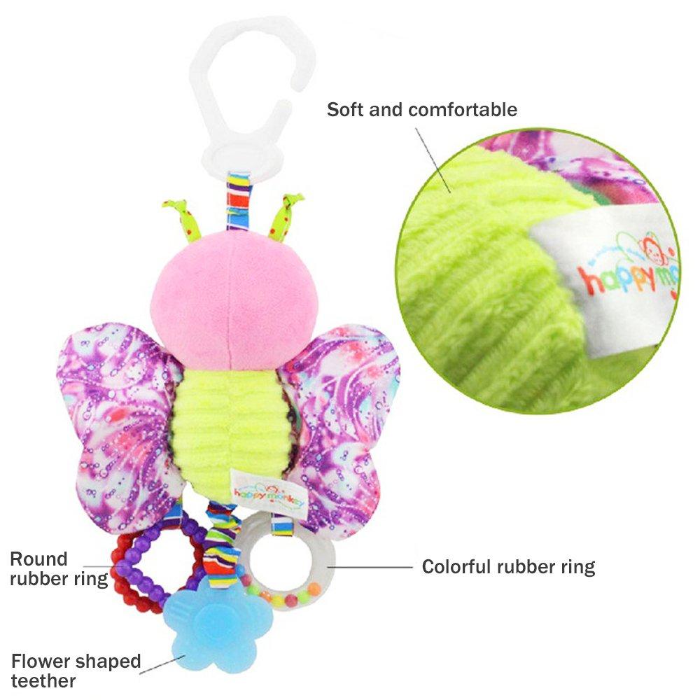 Ndier Sonaglio Peluche Baby Toddler Seggiolino auto Passeggino Presepe Gioco Hanging Butterfly giocattolo