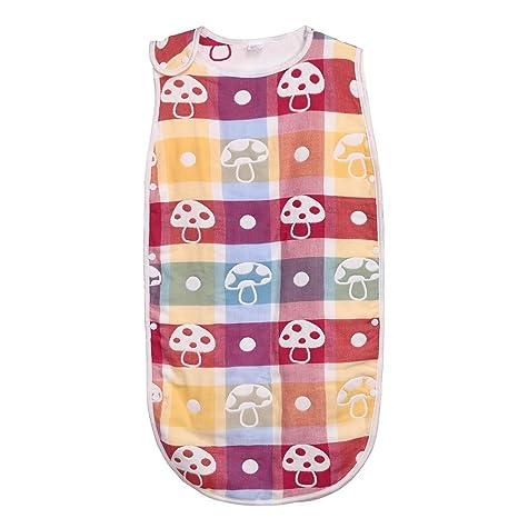 Silveroneuk - Saco de dormir sin mangas para bebé, diseño de dibujos animados, algodón