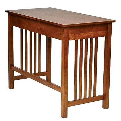 Amazoncom Myeasyshopping Mission Style Ash Oak Desk Desk Antique