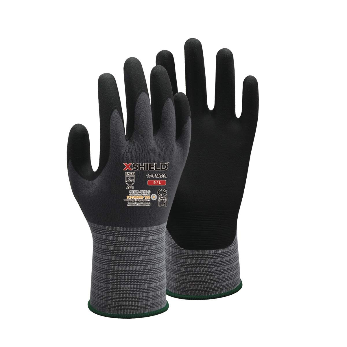 Flock Lined XX-Large Pack of 12 Axle Green Southern Gloves IGN15FL-XXL Nitrile 13 13