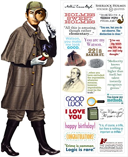 (Sherlock Holmes Quotable Notable - Die Cut Silhouette Greeting Card and Sticker Sheet)