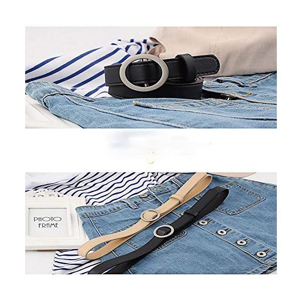 Firally Hot sale Cintura Donna Fibbia Tonda Senza Fibbia 105CM Stile Casual Dimensioni Regolabili Elastica Cintura in… 3 spesavip