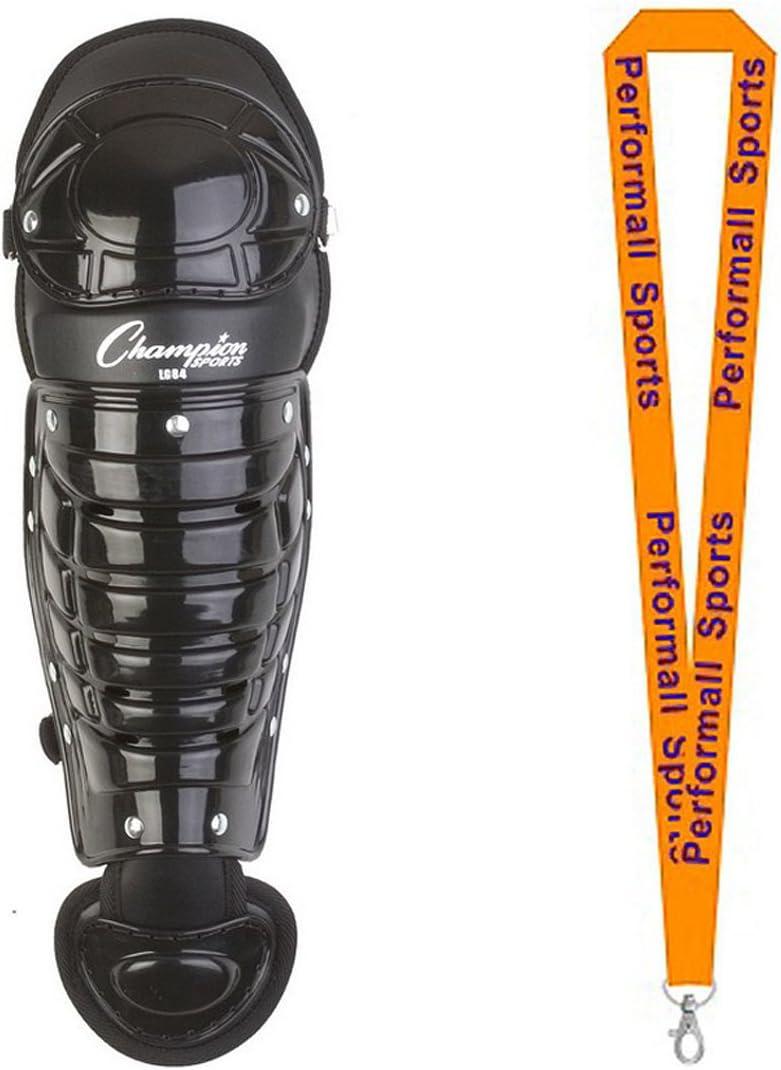 Champion Sports Baseball Single Knee Shinguard Blk