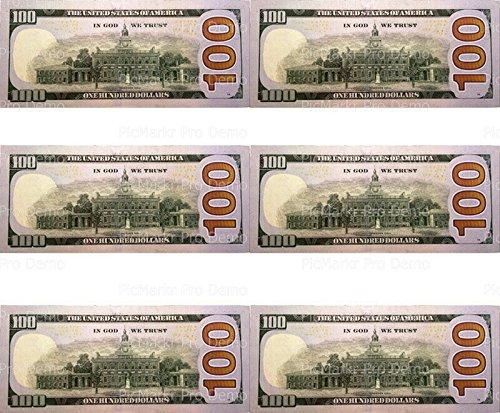 (100 Dollar Bill Back - Birthday - Designer Strips - Edible Cake Side Toppers -)