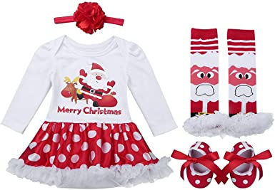 Baby Girl Christmas, Red and White Leg Warmers Red Leg Warmers w White Ruffle or White Leg Warmers w Red Ruffle Girls Christmas Outfit