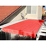 Alion Home Pergola Shade Cover Sunblock Patio Canopy HDPE Permeable Cloth with Grommets (12' x 18', Rust Red)