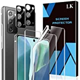 4 Pack LK 2 Pack Screen Protector + 2 Pack Camera Lens Protector Compatible with Samsung Galaxy Note 20, Positioning…
