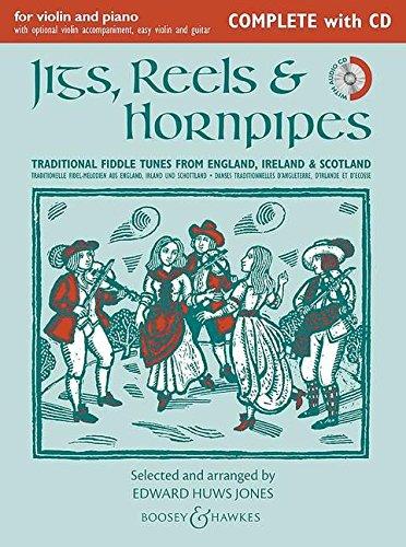 Jigs, Reels and Hornpipes (danses traditionnelles d'Angleterre, d'Ecosse et d'Irlande) --- violon (2ème violon ad libitum) et Piano (guitare ad libitum) (Anglais) Broché – 1 janvier 2014 Huws Jones Edward Boosey and Hawkes 0851626742 Musik / Liederbücher