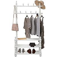 Coat Racks Coat Rack Solid Wood Coat Rack Living Room Bedroom Vertical Hanger Shoe Rack hat Scarf