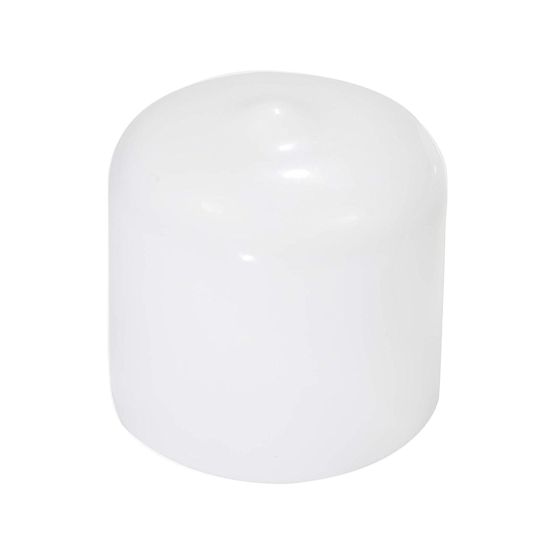 Flexible Pipe Post Rubber Cover 10, White Prescott Plastics 1 Inch Round Vinyl End Cap in Black or White