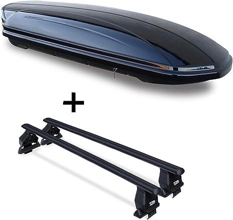Dachbox Vdpmaa320 320ltr Abschließbar Schwarz Dachträger Menabo Tema Kompatibel Mit Seat Leon Iii 5f 5 Türer Ab 2012 Auto